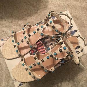 Valentino Garavani Rockstud Rolling Leather Sandal
